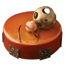 Belgian Chocolate Caramel Mousse Cake