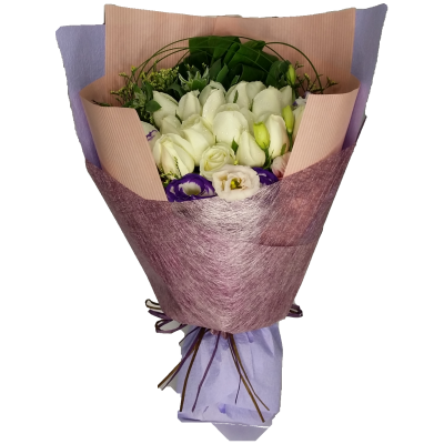My Pure Lover, 18pcs Roses Bouquet