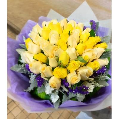 50 Stems Mix Color Roses Bouquet