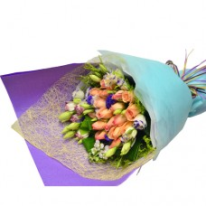 18pcs Champagne Color of Roses Bouquet