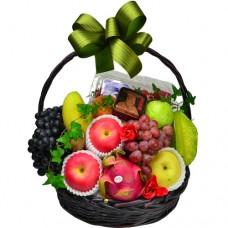 Seasonal Fruits Hamper with Mini Mooncake