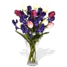Iris and Tulips Bouquet