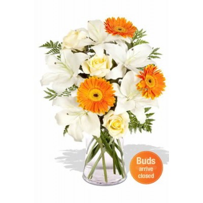 Oriental , gerbera and roses bouquet